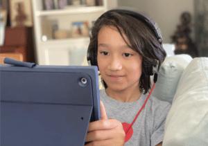 boy on an iPad
